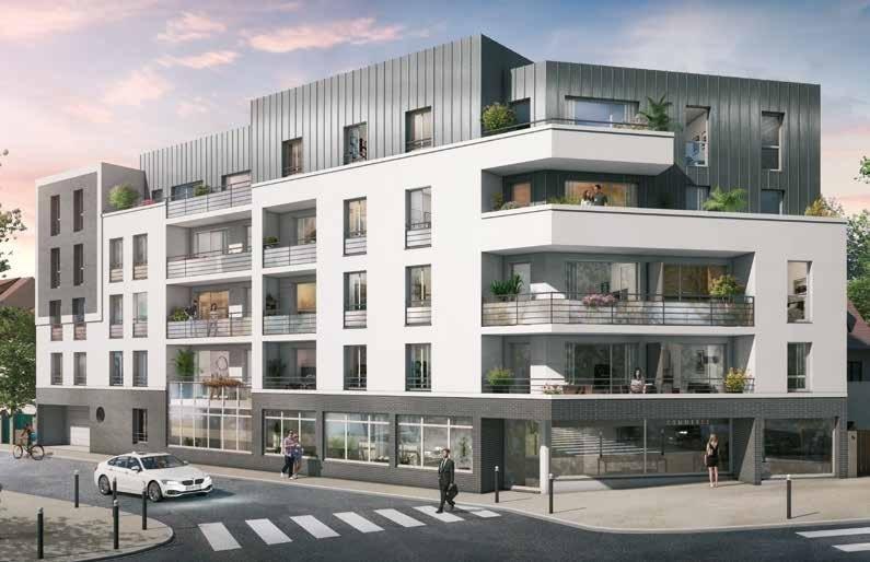 Je vous propose AU PRIX PROMOTEUR, Cette Belle Résidence à taille humaine, elle se compose d'un bâtiment de 39 logements et d'un commerce en rez-de-chaussée. Elle profite de belles terrasses et d'un espace paysagé à l'arrière qui lui confèrent une ambiance intimiste. Le projet, d'architecture contemporaine à la fois sobre et moderne, réussit à s'inscrire dans l'ambiance du quartier. Les façades, qui alternent des teintes blanches et des parements de brique grise, et un bardage métallique débordant de la toiture apportent du rythme à l'ensemble et rappellent le style des pavillons environnants.<BR>Tous les logements présentent de beaux volumes et bénéficient de prestations de qualité. Ils profitent également d'une belle luminosité notamment grâce aux balcons faits de panneaux translucides et aux larges baies vitrées donnant sur les espaces verts. Le parking souterrain compte 53 places de stationnement en 2 sous-sols. La résidence possède également des locaux dédiés aux deux roues. De conception RT 2012 et NF Habitat, les meilleures solutions d'isolation thermique permettent d'importantes économies d'énergie tout en préservant l'environnement.