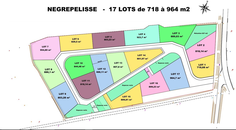 vente terrain Nègrepelisse Nègrepelisse 82800