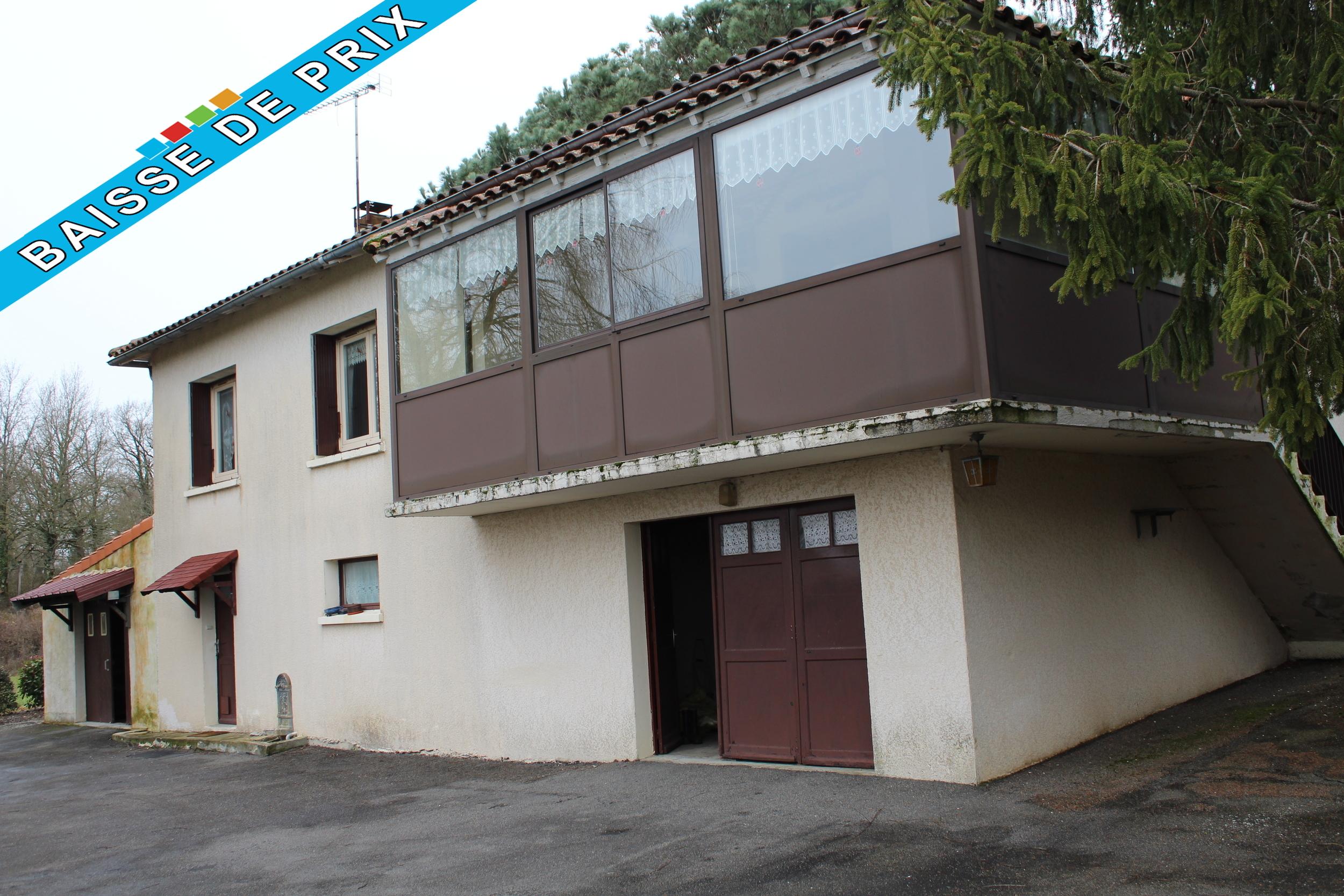 vente maison/villa 6 pièces Alloue 16490