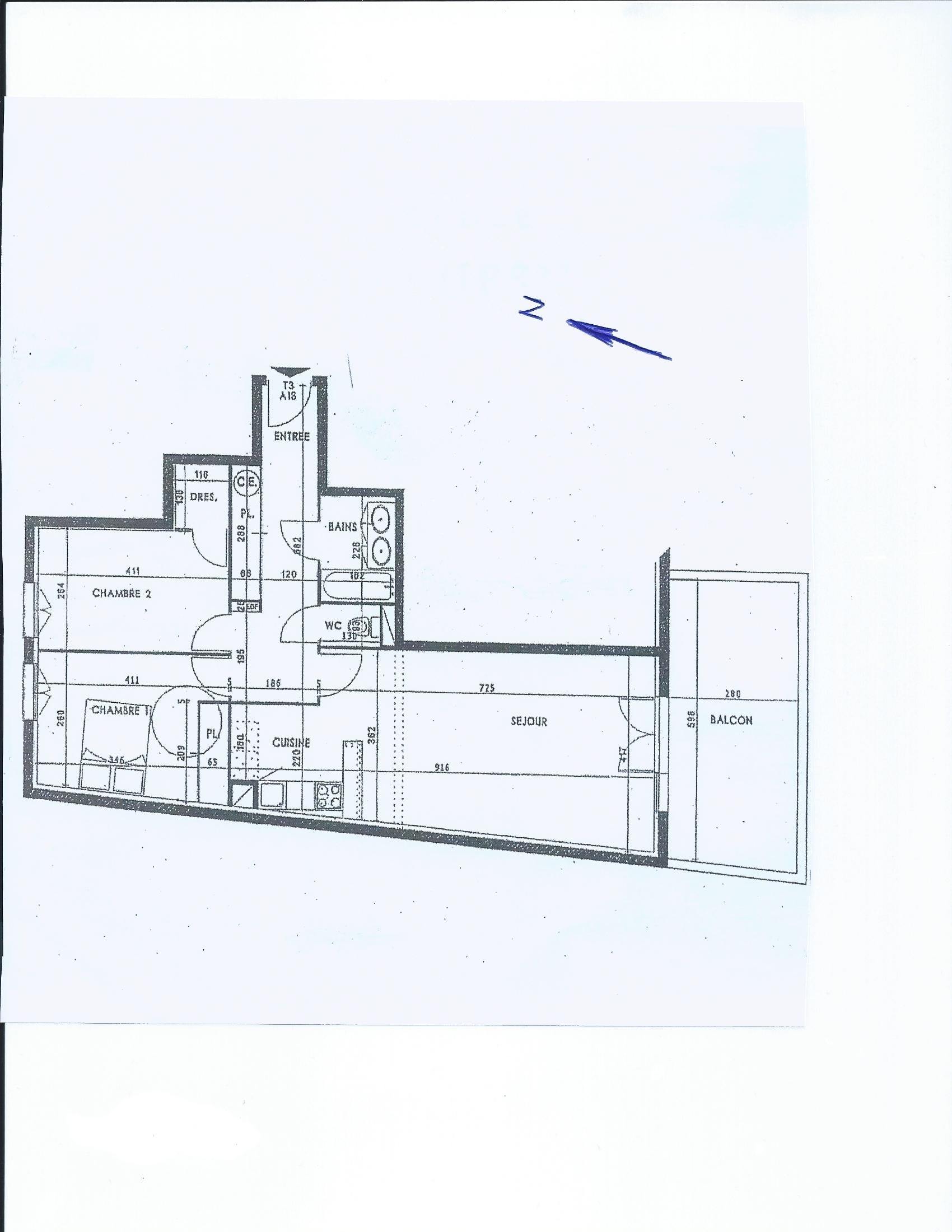 vente Appartement 3 pièces Anglet 64600