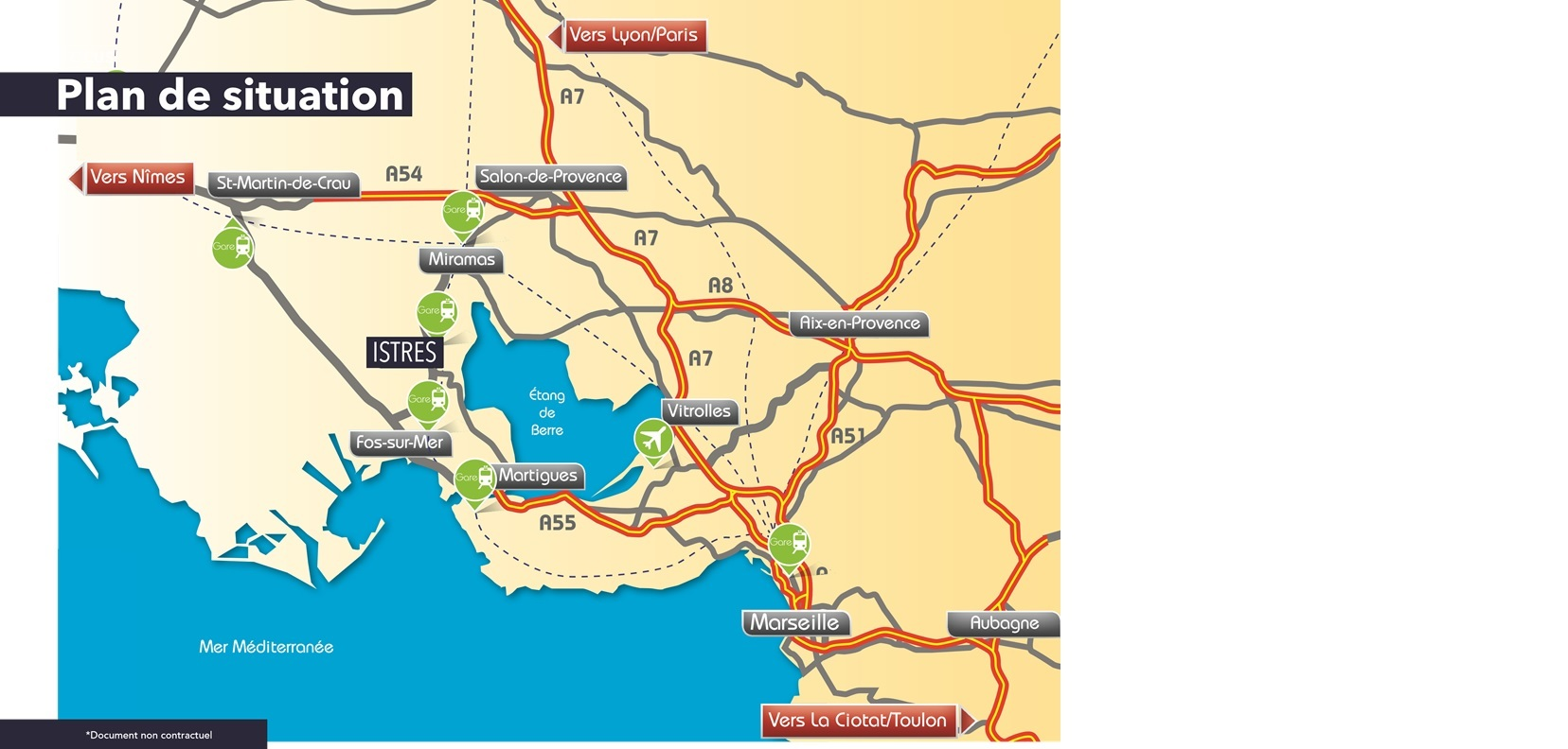Prochainement à Istres, une nouvelle résidence.<BR><BR>Aux portes de la Méditerranée et en bordure d'étangs, la ville d'Istres jouit d'un cadre de vie exceptionnel, entre Terre et Mer. <BR>Dotée d'un riche patrimoine culturel, avec un coeur de ville chargé d'histoire,<BR>Istres s'intègre parfaitement au dynamisme économique du pourtour de l'étang de Berre.<BR>Avec une position stratégique, en plein centre-ville, la résidence Istres Village vous offre un lieu de vie idéal.<BR> Toutes les commodités sont accessibles à pieds depuis la résidence (commerces, écoles, centre historique, loisirs).<BR>L'étang de l'Olivier, tout proche, offre aussi un espace propice à la promenade et<BR>à la détente.<BR>Grâce à son architecture contemporaine et harmonieuse, Istres Village est une résidence raffinée. <BR>Ses appartements du studio au 4 pièces, aux prestations soignées, ont été conçus pour votre bien-être. <BR>Ils bénéficient tous d'une terrasse confortable pour profiter de la douceur de vie provençale.<BR>Eligibilité : Prêt à Taux 0% - Loi Pinel. <BR>Contacter directement Laurie Mazet 06 27 32 89 14 / 04 42 40 40 45